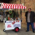 Carritos de hot dogs y hamburguesas para fiestas
